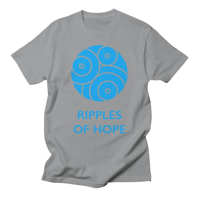Ripples of Hope - Vertical - Blue Men's Regular T-Shirt by Ripples of Hope Swag Shop