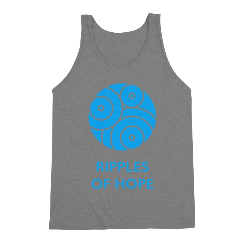 Ripples of Hope - Vertical - Blue Men's Triblend Tank by Ripples of Hope Swag Shop