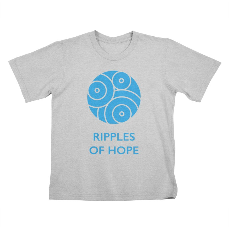 Ripples of Hope - Vertical - Blue Kids T-Shirt by Ripples of Hope Swag Shop