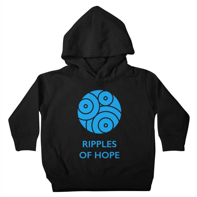 Ripples of Hope - Vertical - Blue Kids Toddler Pullover Hoody by Ripples of Hope Swag Shop