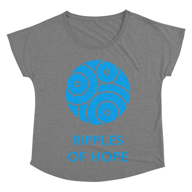 Ripples of Hope - Vertical - Blue Women's Scoop Neck by Ripples of Hope Swag Shop