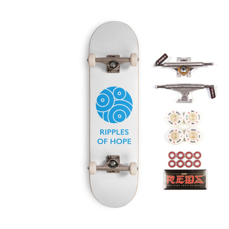 Ripples of Hope - Vertical - Blue Accessories Complete - Pro Skateboard by Ripples of Hope Swag Shop