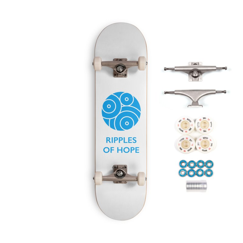 Ripples of Hope - Vertical - Blue Accessories Complete - Premium Skateboard by Ripples of Hope Swag Shop