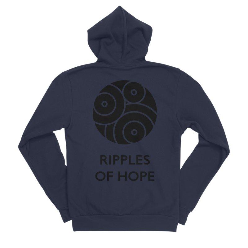 Ripples of Hope - Vertical - Black Women's Zip-Up Hoody by Ripples of Hope Swag Shop