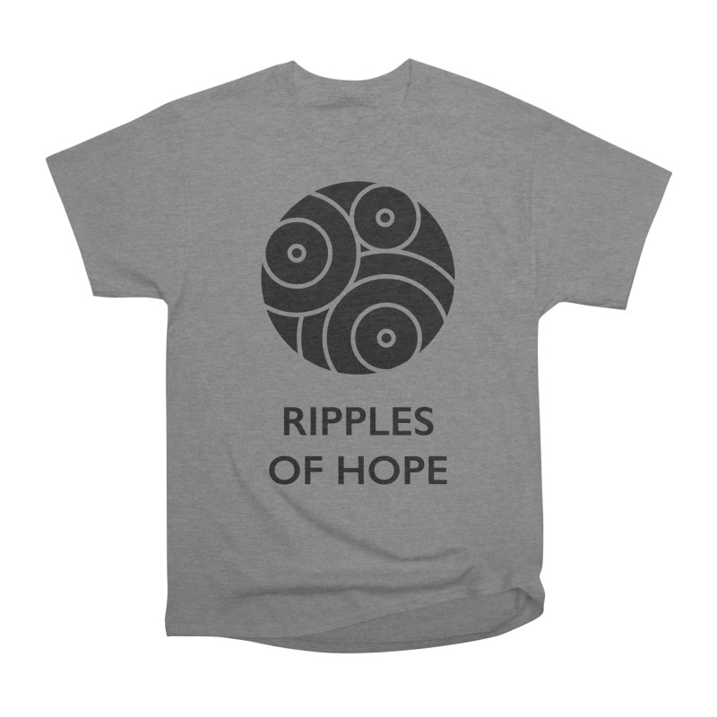 Ripples of Hope - Vertical - Black Women's Heavyweight Unisex T-Shirt by Ripples of Hope Swag Shop