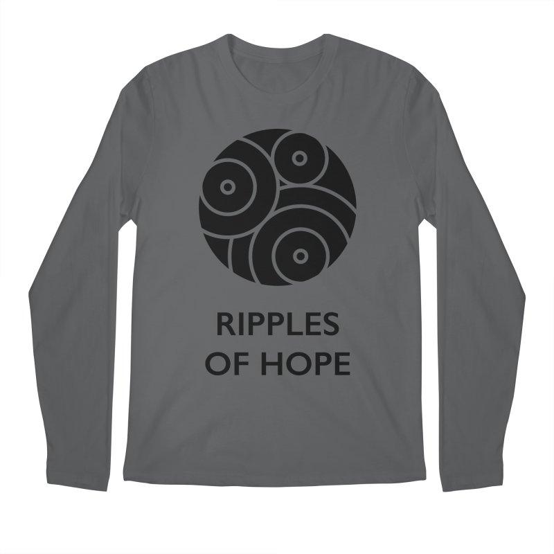 Ripples of Hope - Vertical - Black Men's Longsleeve T-Shirt by Ripples of Hope Swag Shop