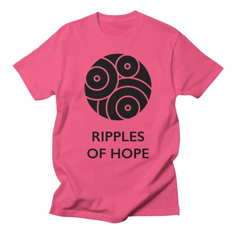 Ripples of Hope - Vertical - Black Men's Regular T-Shirt by Ripples of Hope Swag Shop