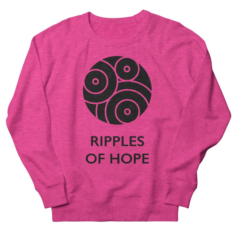 Ripples of Hope - Vertical - Black Men's French Terry Sweatshirt by Ripples of Hope Swag Shop