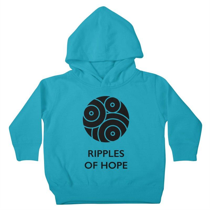 Ripples of Hope - Vertical - Black Kids Toddler Pullover Hoody by Ripples of Hope Swag Shop