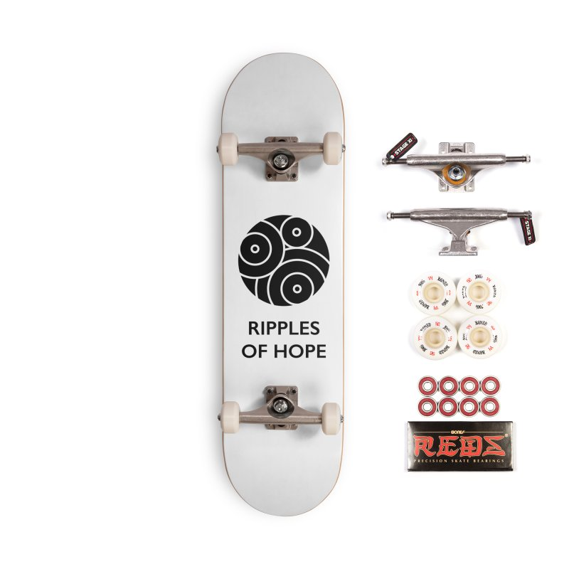 Ripples of Hope - Vertical - Black Accessories Complete - Pro Skateboard by Ripples of Hope Swag Shop