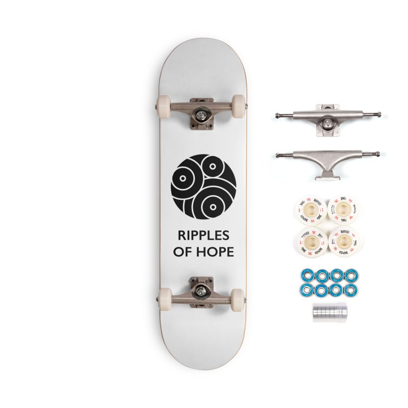 Ripples of Hope - Vertical - Black Accessories Complete - Premium Skateboard by Ripples of Hope Swag Shop