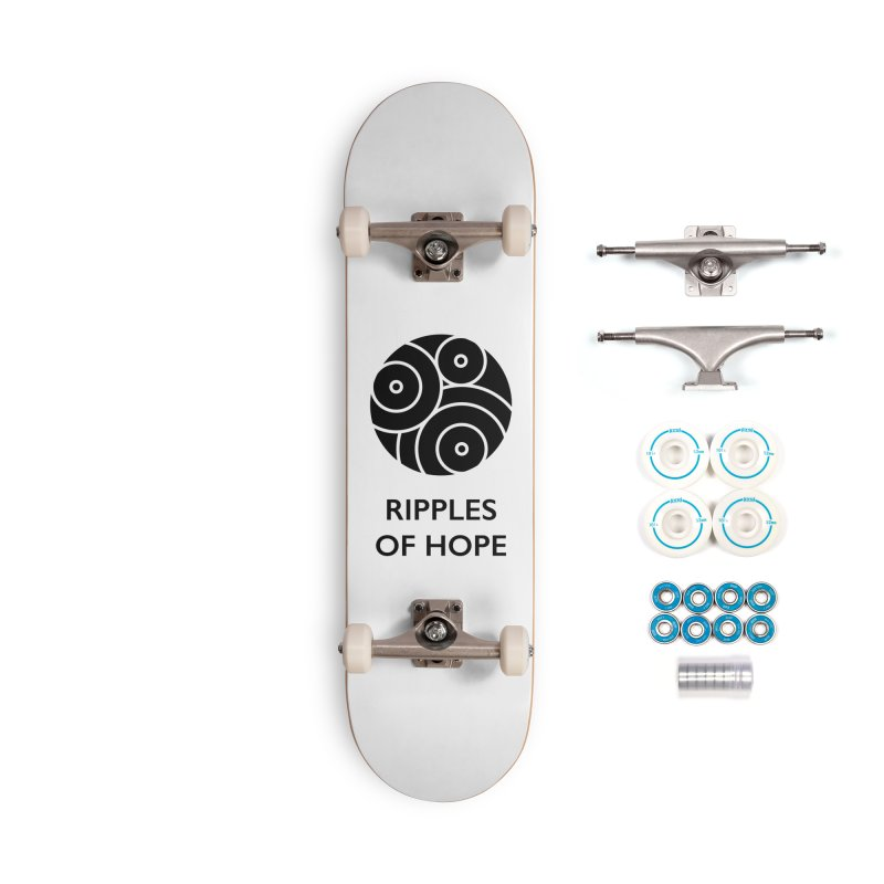 Ripples of Hope - Vertical - Black Accessories Skateboard by Ripples of Hope Swag Shop