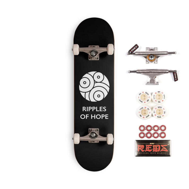 Ripples of Hope - Vertical - White Accessories Complete - Pro Skateboard by Ripples of Hope Swag Shop