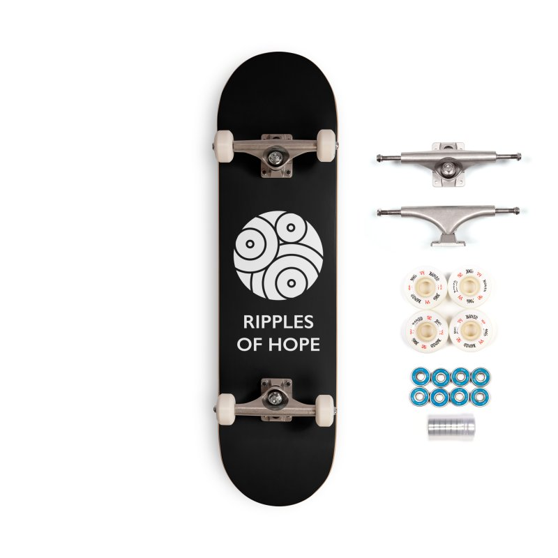 Ripples of Hope - Vertical - White Accessories Complete - Premium Skateboard by Ripples of Hope Swag Shop