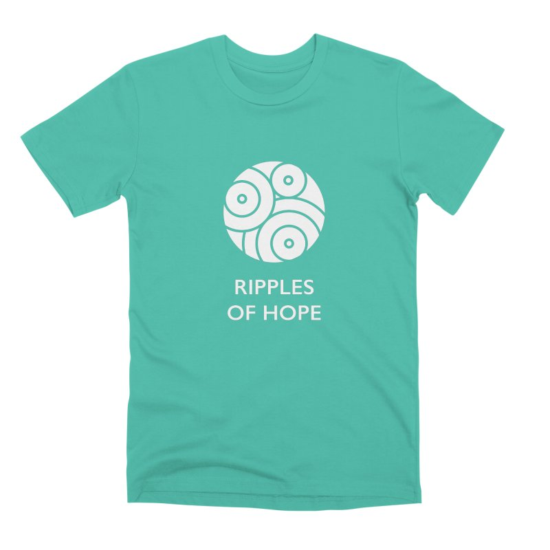 Ripples of Hope - Vertical - White Men's T-Shirt by Ripples of Hope Swag Shop