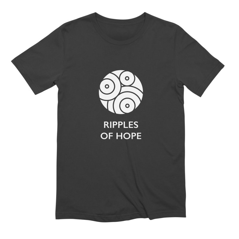 Ripples of Hope - Vertical - White Men's Extra Soft T-Shirt by Ripples of Hope Swag Shop