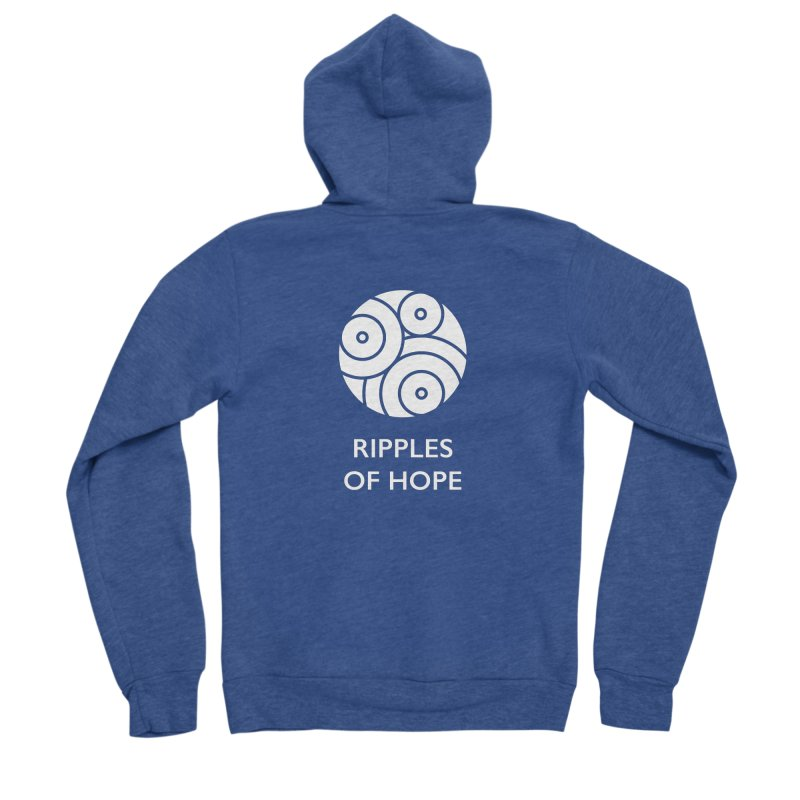 Ripples of Hope - Vertical - White Women's Sponge Fleece Zip-Up Hoody by Ripples of Hope Swag Shop