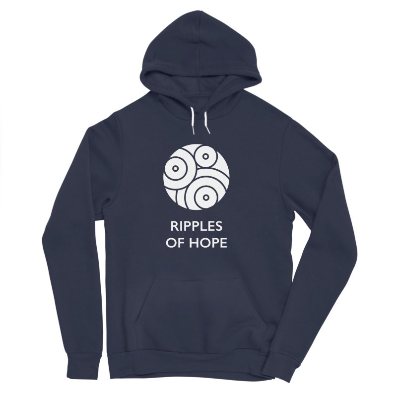 Ripples of Hope - Vertical - White Women's Sponge Fleece Pullover Hoody by Ripples of Hope Swag Shop