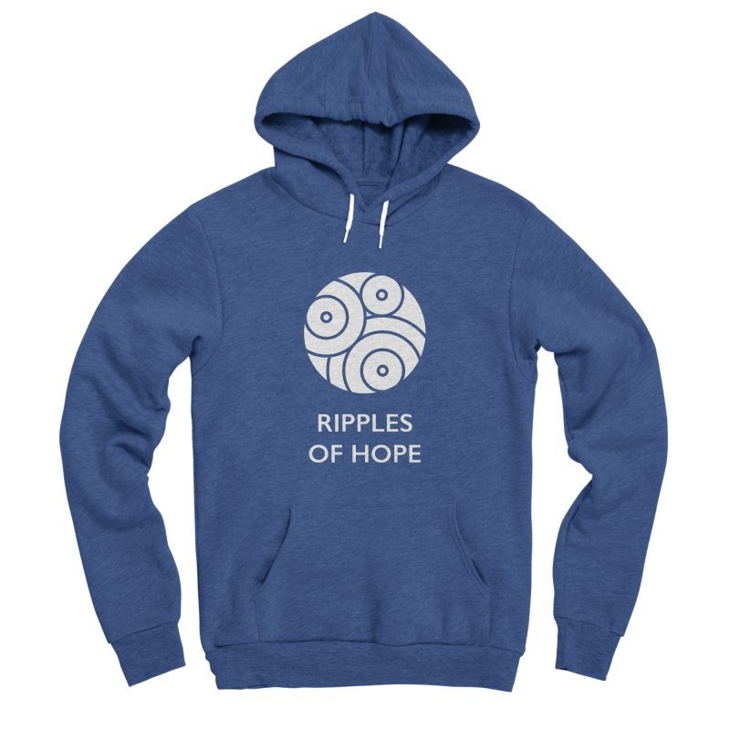 Ripples of Hope - Vertical - White Men's Sponge Fleece Pullover Hoody by Ripples of Hope Swag Shop