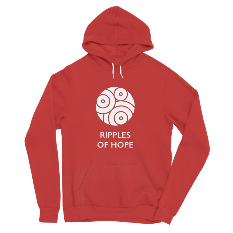 Ripples of Hope - Vertical - White Women's Sponge Fleece Pullover Hoody by Ripples of Hope Swag Shop