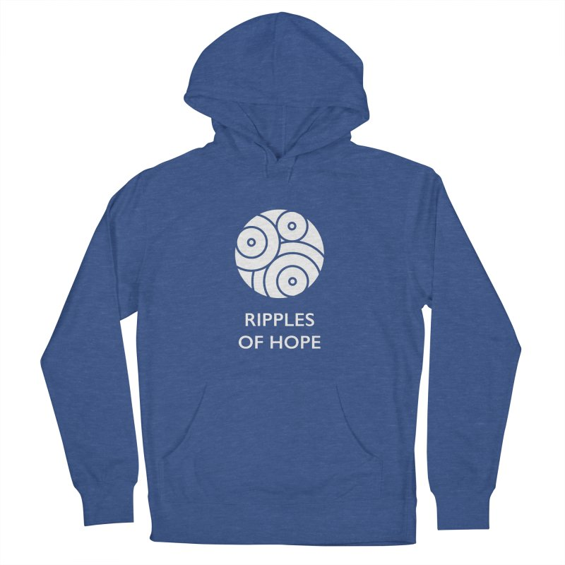 Ripples of Hope - Vertical - White Women's French Terry Pullover Hoody by Ripples of Hope Swag Shop