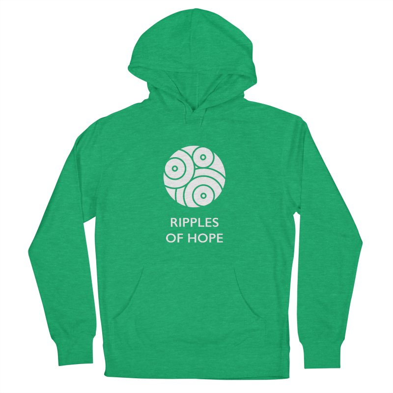 Ripples of Hope - Vertical - White Men's French Terry Pullover Hoody by Ripples of Hope Swag Shop