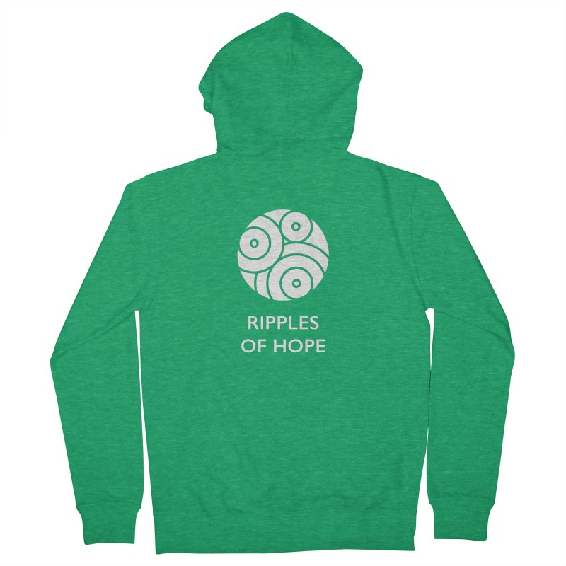Ripples of Hope - Vertical - White Women's Zip-Up Hoody by Ripples of Hope Swag Shop