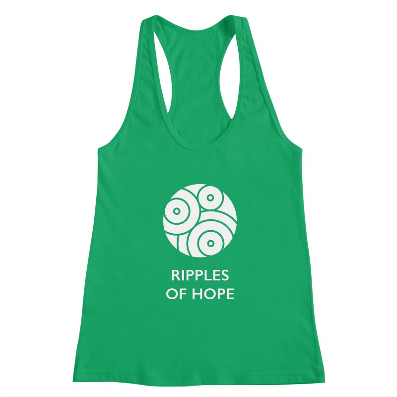 Ripples of Hope - Vertical - White Women's Tank by Ripples of Hope Swag Shop