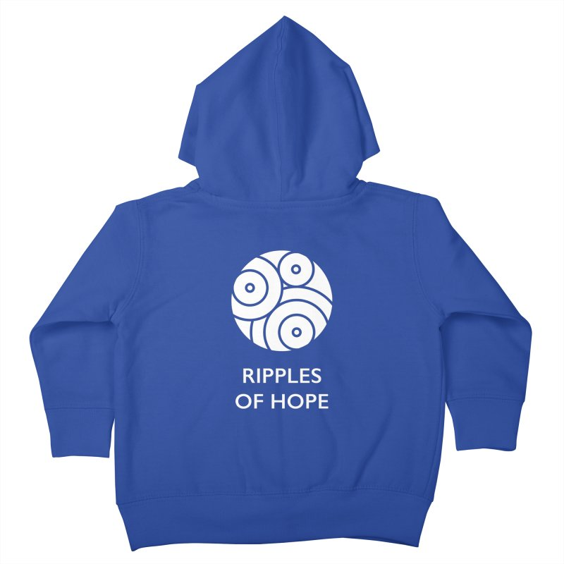 Ripples of Hope - Vertical - White Kids Toddler Zip-Up Hoody by Ripples of Hope Swag Shop