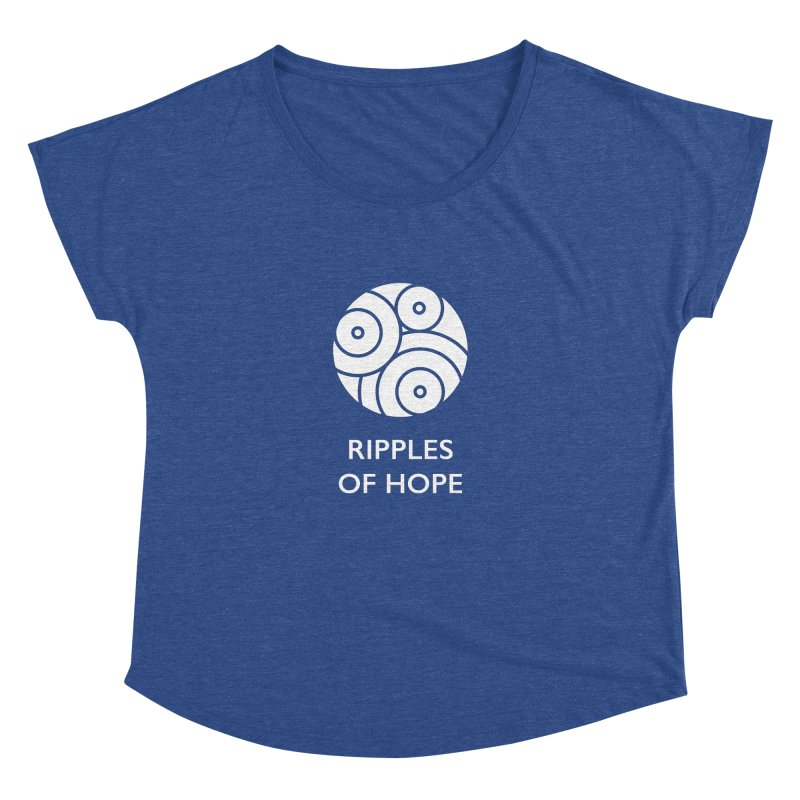 Ripples of Hope - Vertical - White Women's Dolman Scoop Neck by Ripples of Hope Swag Shop