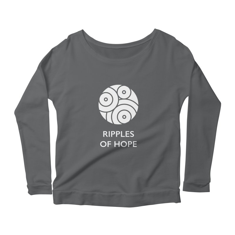 Ripples of Hope - Vertical - White Women's Scoop Neck Longsleeve T-Shirt by Ripples of Hope Swag Shop