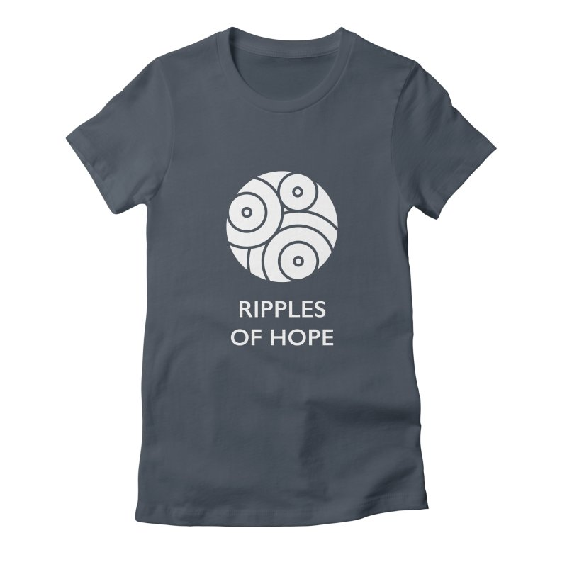Ripples of Hope - Vertical - White Women's T-Shirt by Ripples of Hope Swag Shop