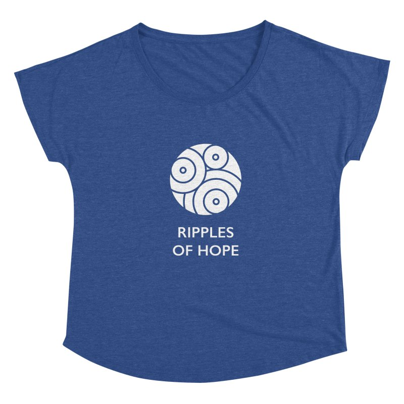 Ripples of Hope - Vertical - White Women's Scoop Neck by Ripples of Hope Swag Shop