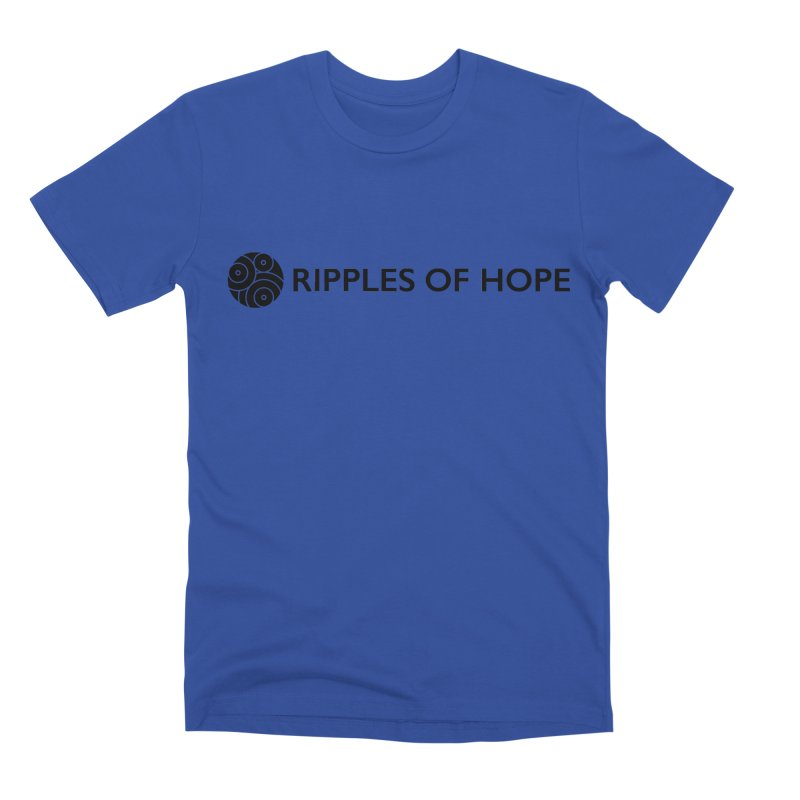 Horizontal - Ripples of Hope Black Men's Premium T-Shirt by Ripples of Hope Swag Shop