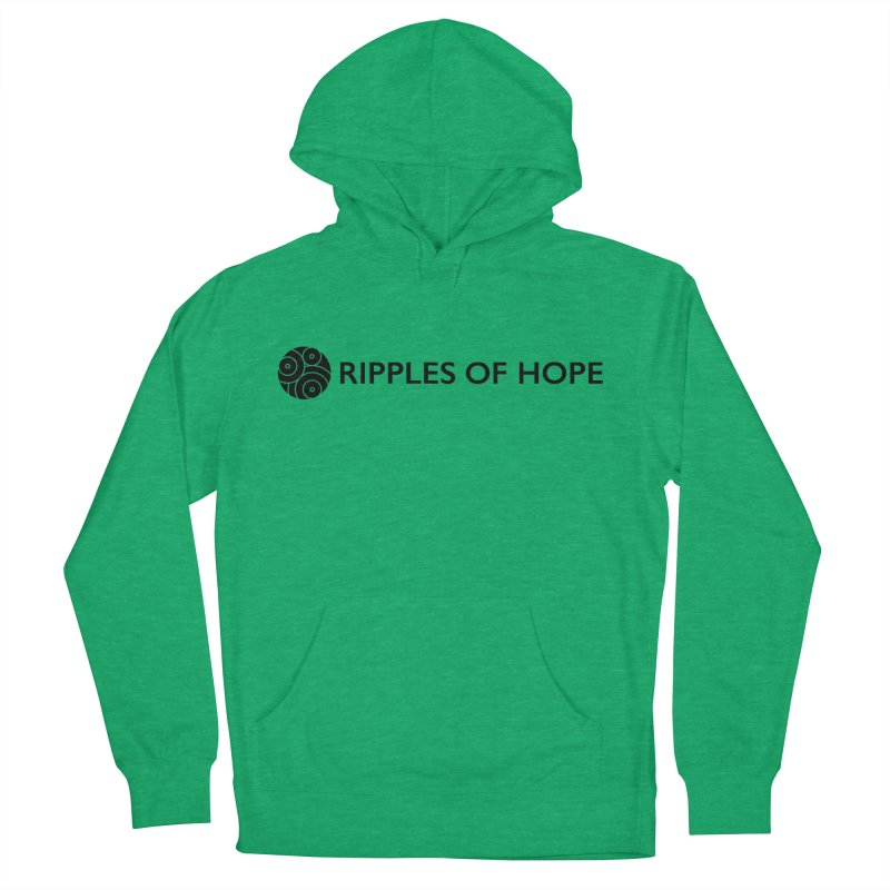 Horizontal - Ripples of Hope Black Men's French Terry Pullover Hoody by Ripples of Hope Swag Shop