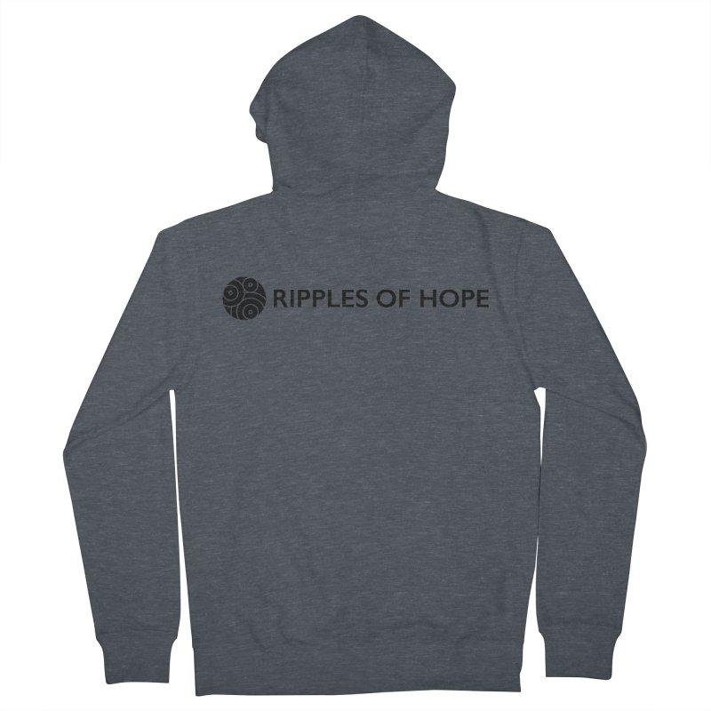 Horizontal - Ripples of Hope Black Men's Zip-Up Hoody by Ripples of Hope Swag Shop
