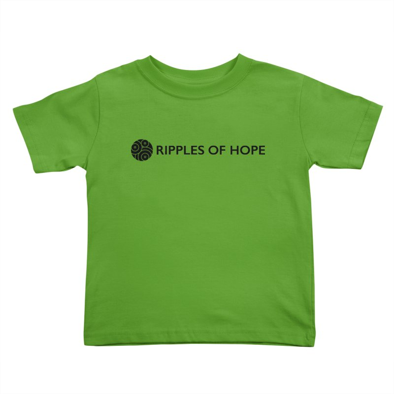 Horizontal - Ripples of Hope Black Kids Toddler T-Shirt by Ripples of Hope Swag Shop