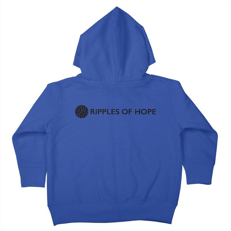 Horizontal - Ripples of Hope Black Kids Toddler Zip-Up Hoody by Ripples of Hope Swag Shop