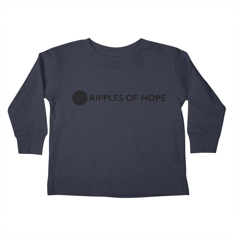 Horizontal - Ripples of Hope Black Kids Toddler Longsleeve T-Shirt by Ripples of Hope Swag Shop