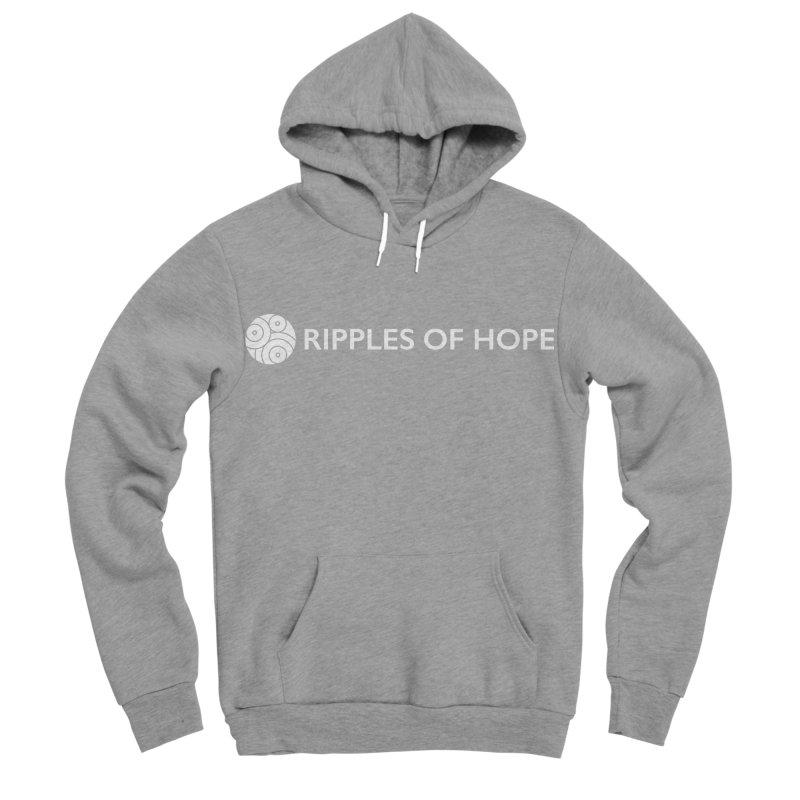 Horizontal - Ripples of Hope - White Women's Sponge Fleece Pullover Hoody by Ripples of Hope Swag Shop