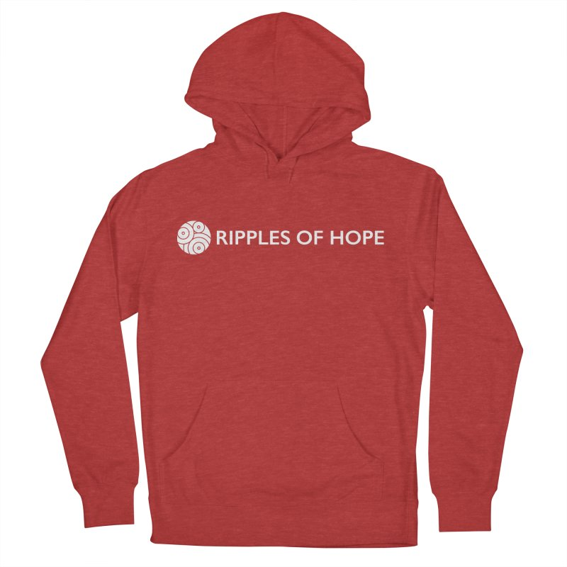 Horizontal - Ripples of Hope - White Men's French Terry Pullover Hoody by Ripples of Hope Swag Shop