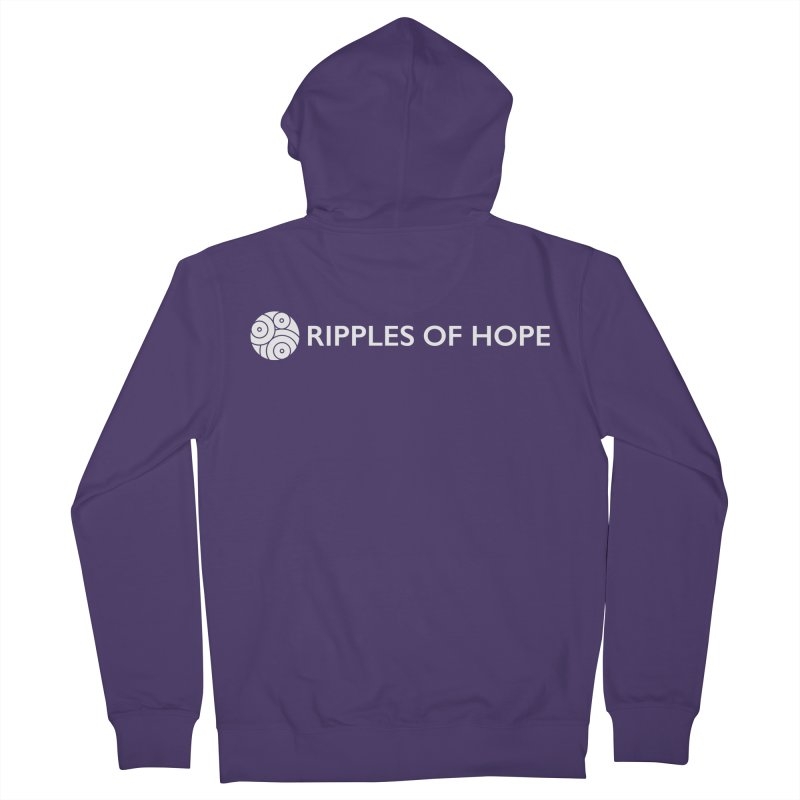 Horizontal - Ripples of Hope - White Women's French Terry Zip-Up Hoody by Ripples of Hope Swag Shop