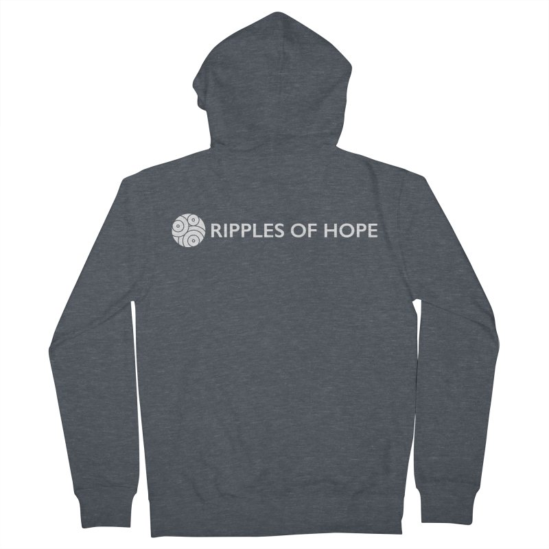 Horizontal - Ripples of Hope - White Men's French Terry Zip-Up Hoody by Ripples of Hope Swag Shop