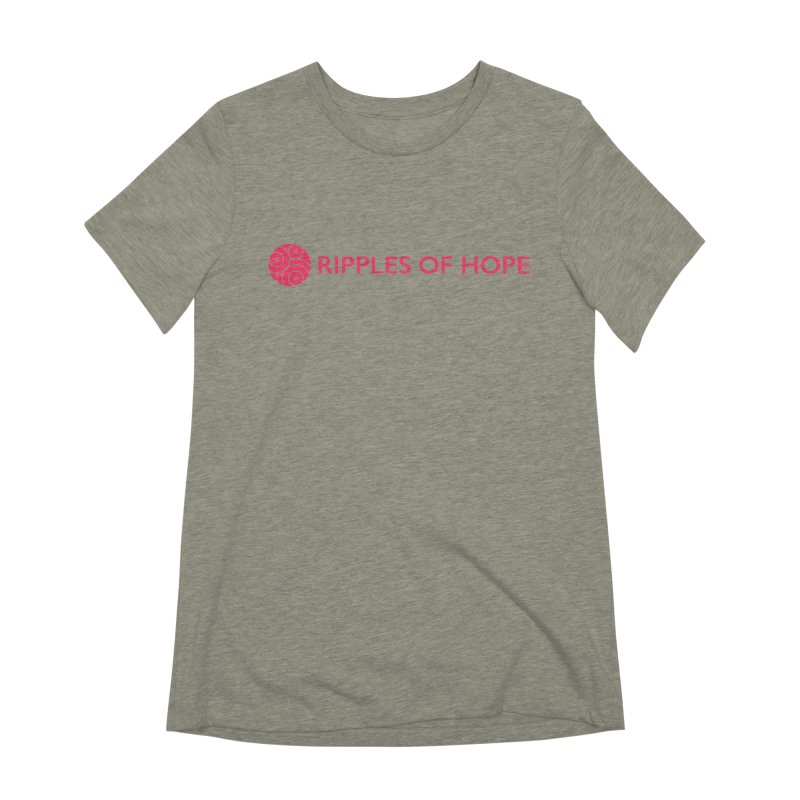 Ripples of Hope - Horizontal - Red Women's Extra Soft T-Shirt by Ripples of Hope Swag Shop