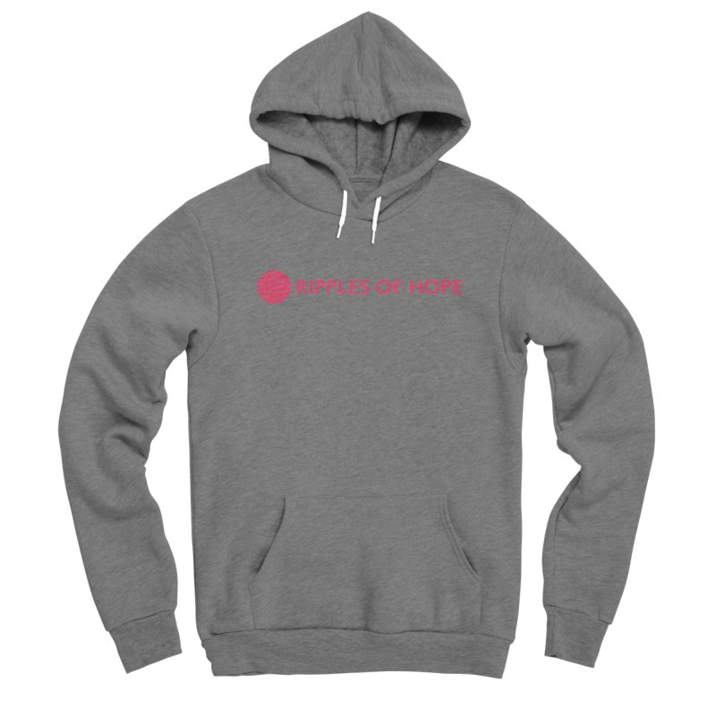 Ripples of Hope - Horizontal - Red Men's Pullover Hoody by Ripples of Hope Swag Shop