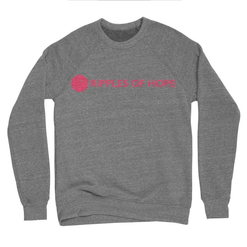 Ripples of Hope - Horizontal - Red Men's Sweatshirt by Ripples of Hope Swag Shop