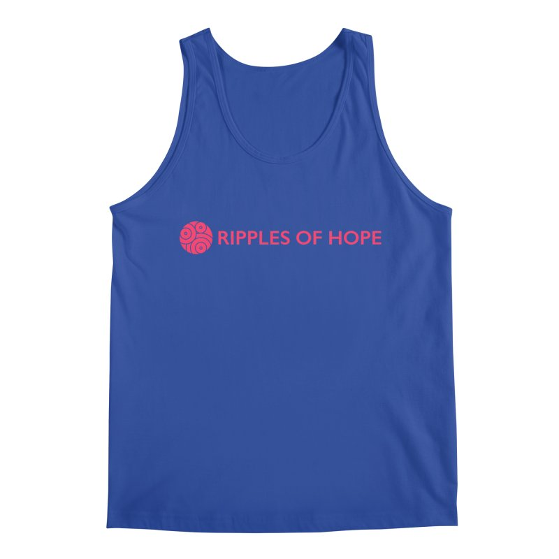 Ripples of Hope - Horizontal - Red Men's Tank by Ripples of Hope Swag Shop