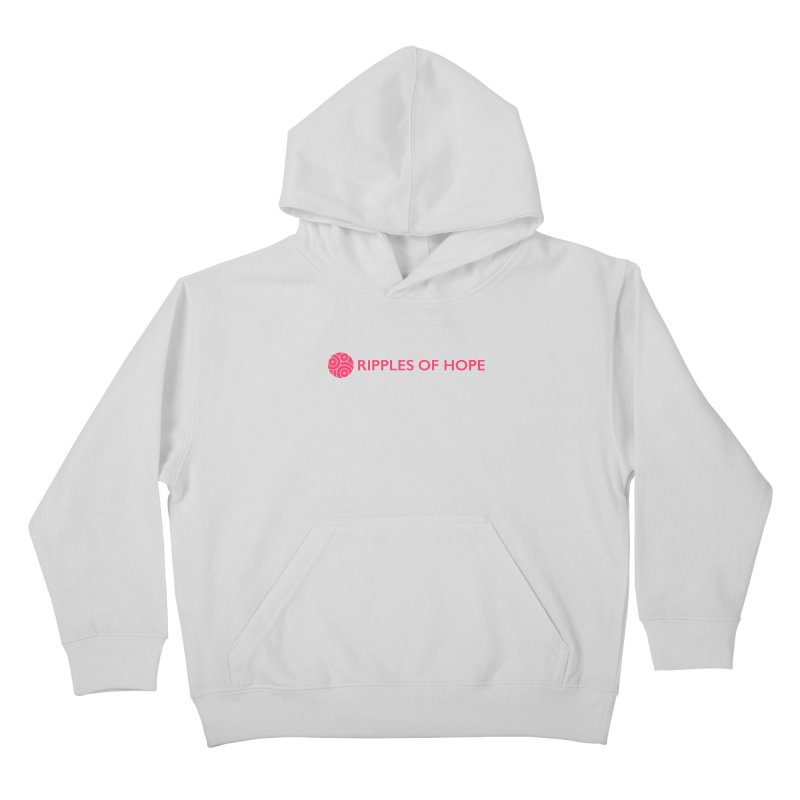 Ripples of Hope - Horizontal - Red Kids Pullover Hoody by Ripples of Hope Swag Shop