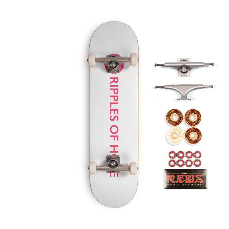 Ripples of Hope - Horizontal - Red Accessories Skateboard by Ripples of Hope Swag Shop