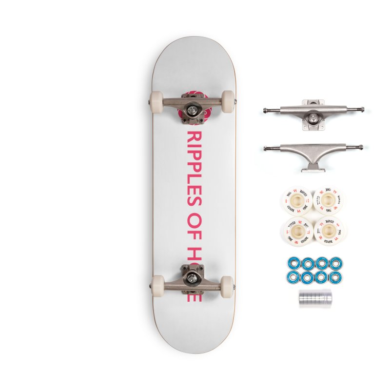 Ripples of Hope - Horizontal - Red Accessories Complete - Premium Skateboard by Ripples of Hope Swag Shop